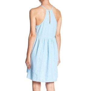 Abound Dresses - Abound Halter Neck Linen Blend Shift Dress